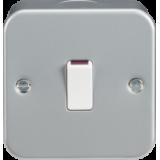 Knightsbridge Metal Clad 20A 1G DP Switch