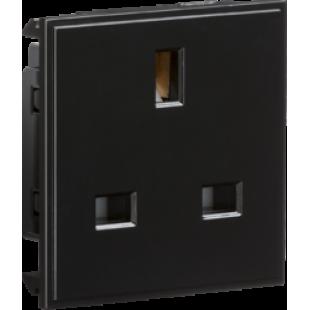 Knightsbridge 13A 1G Unswitched Socket Module 50mm x 50mm - Black
