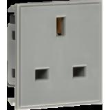 Knightsbridge 13A 1G Unswitched Socket Module 50mm x 50mm - Grey