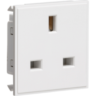 Knightsbridge 13A 1G Unswitched Socket Module 50mm x 50mm - White