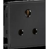 Knightsbridge 5A Unswitched Round Socket Module 50mm x 50mm - Black