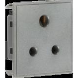 Knightsbridge 5A Unswitched Round Socket Module 50mm x 50mm - Grey
