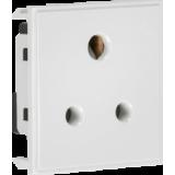 Knightsbridge 5A Unswitched Round Socket Module 50mm x 50mm - White