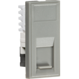 Knightsbridge UTP CAT5e RJ45 Outlet Module 25mm x 50mm - Grey