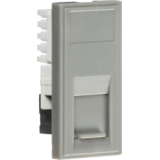 Knightsbridge UTP CAT6 RJ45 Outlet Module 25mm x 50mm - Grey