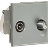 Knightsbridge Diplexed TV / SAT TV Outlet Module 50mm x 50mm - Grey