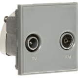 Knightsbridge Diplexed TV / FM DAB Outlet Module 50mm x 50mm - Grey