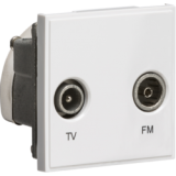 Knightsbridge Diplexed TV / FM DAB Outlet Module 50mm x 50mm - White