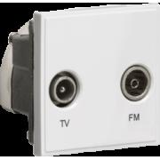 Knightsbridge Diplexed TV / FM DAB Outlet Module 50mm x 50mm - White