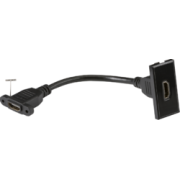 Knightsbridge HDMI Outlet Module 25mm x 50mm - Black