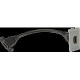 Knightsbridge HDMI Outlet Module 25mm x 50mm - Grey