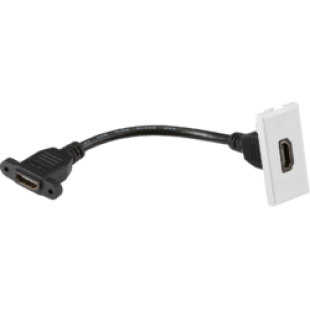 Knightsbridge HDMI Outlet Module 25mm x 50mm - White