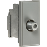 Knightsbridge Screened SAT TV Outlet Module 25mm x 50mm - Grey
