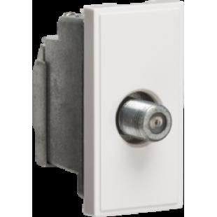 Knightsbridge Screened SAT TV Outlet Module 25mm x 50mm - White