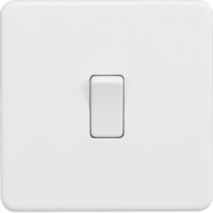 Knightsbridge Screwless 10A 1G 2 Way Switch - Matt White