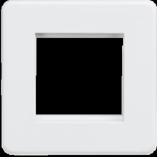 Screwless 2G Modular Faceplate - Matt White