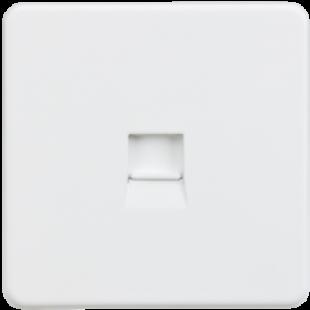 Screwless Telephone Master Socket - Matt White
