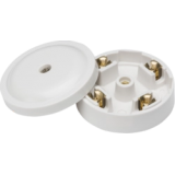 5A Junction Box 4 Terminal White (59mm)
