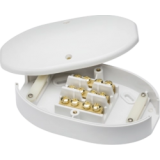 60A Junction Box 3 Terminal White