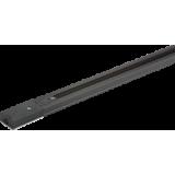 Knightsbridge 230V Single Circuit Track Black 3 Metre