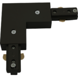 Knightsbridge 230V Track L Right Angle Connector Black