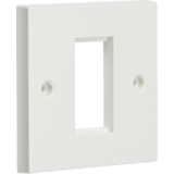 Knightsbridge 1G Modular Faceplate - White