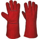 Welders Gauntlet Red Leather EN388 & EN407 Category 2