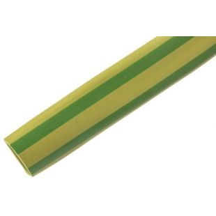 2.0mm Green & Yellow  PVC Sleeving 100 Metre