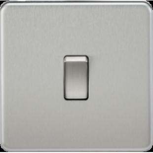 Screwless 10A 1G Intermediate Switch - Brushed Chrome