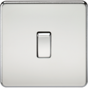 Screwless 10A 1G Intermediate Switch - Polished Chrome