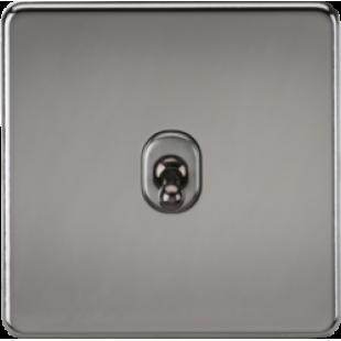 Screwless 10A 1G Intermediate Toggle Switch - Black Nickel
