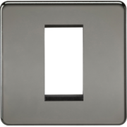 Screwless 1G Modular Faceplate - Black Nickel