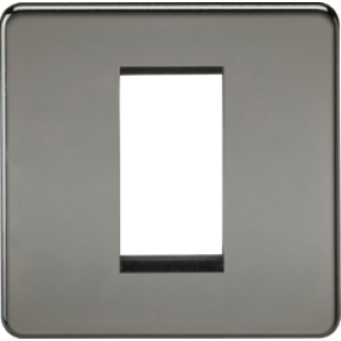 Screwless 1G Modular Faceplate - Black Nickel