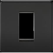 Screwless 1G Modular Faceplate - Matt Black