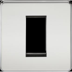 Screwless 1G Modular Faceplate - Polished Chrome