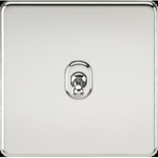Screwless 10A 1G 2 Way Toggle Switch - Polished Chrome