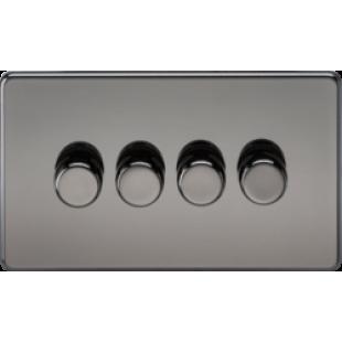 Screwless 4G 2 Way Dimmer 60-400W - Black Nickel