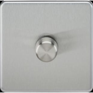 Screwless 1G 2 Way 40-400W Dimmer Switch - Brushed Chrome