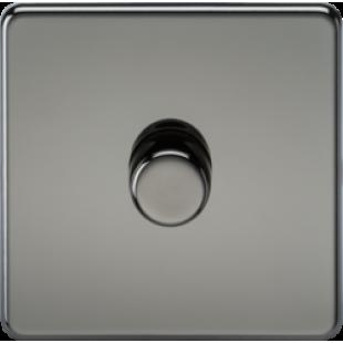 Screwless 1G 2 Way 40-400W Dimmer Switch - Black Nickel