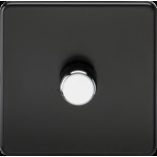 Screwless 1G 2 Way 40-400W Dimmer Switch - Matt Black