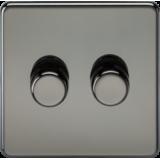 Screwless 2G 2 Way 40-400W Dimmer Switch - Black Nickel