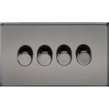 Screwless 4G 2 Way 40-400W Dimmer Switch - Black Nickel