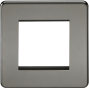 Screwless 2G Modular Faceplate - Black Nickel