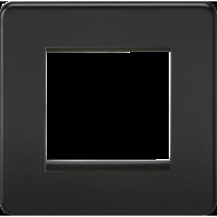 Screwless 2G Modular Faceplate - Matt Black