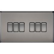 Screwless 10A 6G 2 Way Switch - Black Nickel