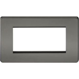 Screwless 4G Modular Faceplate - Black Nickel