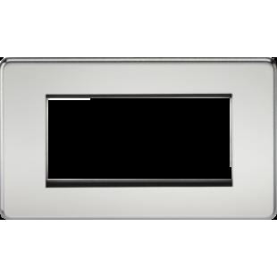 Screwless 4G Modular Faceplate - Polished Chrome