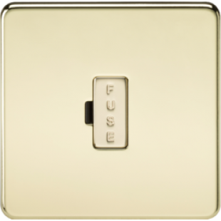 Screwless 13A Fused Spur Unit - Polished Brass