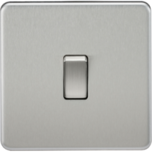 Screwless 20A 1G DP Switch - Brushed Chrome