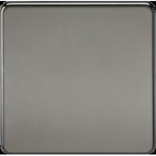 Screwless 1G Blanking Plate - Black Nickel